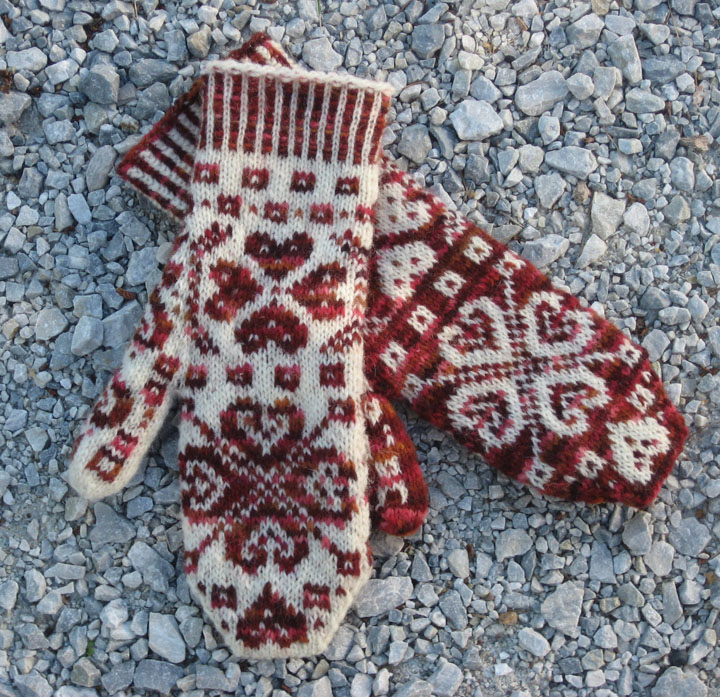 Fair Isle Knitting Kits Canada : All you need is love mittens pattern only freshisle fibers