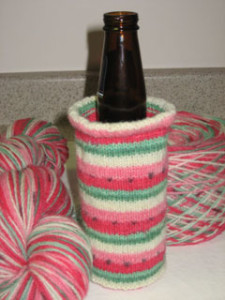 Beer Cozy - Self-striping Watermelon