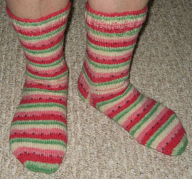 Basic Socks - Self-striping Watermelon