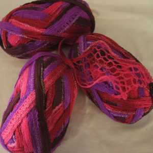 Frilly Scarf Yarn - No Label - Pinks/Purples