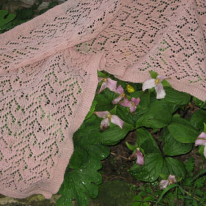 Pink Trillium Shawl - Pattern Only
