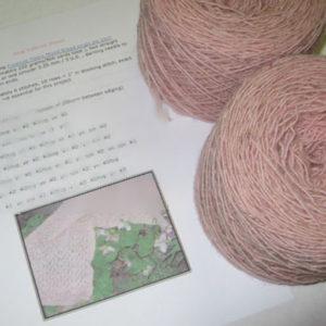 Pink Trillium Shawl - Kit
