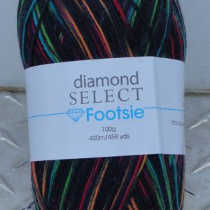 Diamond Footsie - 514 - Black/Rainbow
