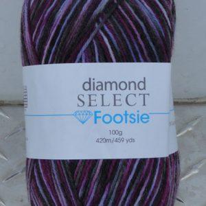 Diamond Footsie - 523 - Purples